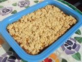 Loquat Crumble Recipe: loquats, sugar, lemon juice, allspice, cinnamon, ground cloves, raisins, water - EASY!
