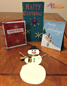 Beaded Holiday Cards