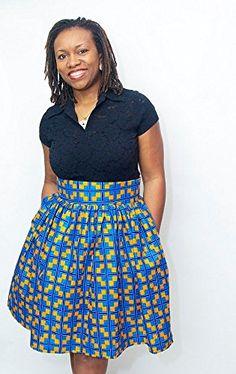 Amazon.com : African Print Cynthia Bell Skirt - Medium : Everything Else