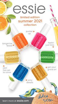 Essie Nail Polish Colors, Orange Nail Polish, Nail Polish Designs, Cute Nails, Pretty Nails, Bright Nails, Summer Acrylic Nails, Nail Polish Collection, Fabulous Nails