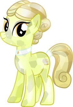 Crystal Spa pony Golden Glitter by Vector-Brony on deviantART