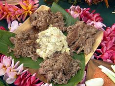 Kalua Pork - Sam Choy Recipe  Used this for church luau - awesome reviews!  Better than  southern smoked/pulled pork