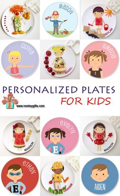 Personalized Plates for Kids. Fun products that picky eaters as well as good eaters will love. They make great Christmas gifts