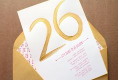 golden birthday party invites, It's Going To Be Golden on invitations