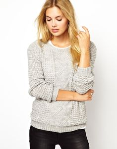Great texture. Love me a nice fisherman's sweater. Or a good imitation.  (Vila Cable Knit Sweater | ASOS)