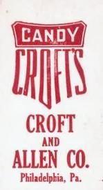 1909 Croft's Candy E92 #14 Harry Davis Back