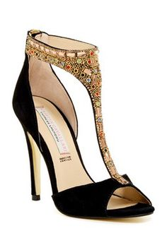 Lena Embellished Heel Sandal
