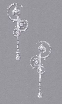 >>>Cheap Sale OFF! >>>Visit>> Gouache sur papier mi teinte Boucle doreille collection SUMMER RAIN could be used in a necklace High Jewelry, Jewelry Art, Fashion Jewelry, Men's Jewellery, Designer Jewellery, Diamond Jewellery, Jewellery Designs, 3d Mode, Jewelry Design Drawing
