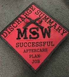 Graduation Cap for an MSW by Maysun Khan #graduation #cap