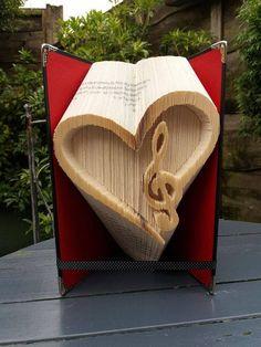 Heart Music Combi Book Folding Pattern, 225f plus tutorial by Cornerhouse115 on Etsy