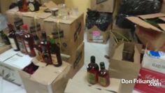 Con la Policia Aduanera afectamos centros de acopio de licor adulterado ...