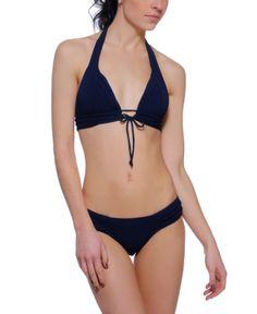 Robin Piccone 'Karina' Pleated Halter Bikini