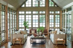 Best Modern Lake Houses Floor To Ceiling Windows Living Room
