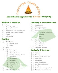 Camping Checklist – Essential Supplies for Flawless Camping