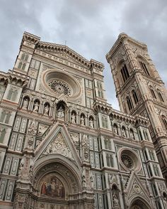 "Cattedrale di Santa Maria del Fiore (Florence Cathedral) with Cloudy Weather - - - The Cattedrale di Santa Maria del Fiore (in English ""Cathedral of Saint Mary of the Flowers"") is the main church of Florence, Italy. . Il Duomo di Firenze, as it is ordinarily called, was begun in 1296 in the Gothic style with the design of Arnolfo di Cambio and completed structurally in 1436 with the dome engineered by Filippo Brunelleschi. . The exterior of the basilica is faced with polychrome marble panels…"