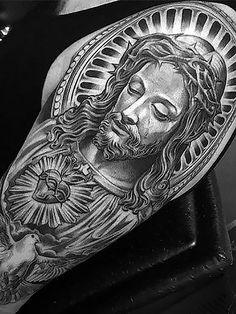 98 Amazing Jesus Tattoos for Men, 70 Mind Blowing Jesus Tattoos for Chest, 55 Best Arm Tattoo Ideas for Men the Trend Spotter, 100 Jesus Tattoos for Men Cool Savior Ink Design Ideas, 81 Awesome Sleeve Tattoos Catholic Cool Tattoo Designs. Jesus Hand Tattoo, Jesus Tattoo Sleeve, Jesus Tattoo Design, Christ Tattoo, Forearm Tattoo Design, Sleeve Tattoos, Arm Tattoos Drawing, Cool Arm Tattoos, Tattoo Design Drawings