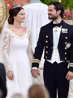 Swedish Royal Wedding: See Sofia Hellqvist's Wedding Dress! – Style News - StyleWatch - People.com