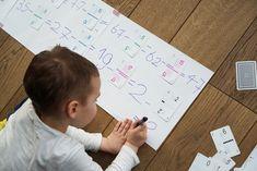 Jak nauczyć dziecko dodawania i odejmowania w głowie? Karty matematyczne Grabowskiego! Education, Diy, Bricolage, Handyman Projects, Learning, Do It Yourself, Fai Da Te, Teaching, Crafting