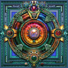"""Earth Mandala "" by Steve Radic/paxempire | Redbubble"