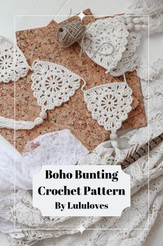 Create beautiful boho Bunting with this simple pattern from Lululoves (diagram included in pdf) Crochet Bunting. Create beautiful boho Bunting with this simple pattern from Lululoves (diagram included in pdf) Crochet Pattern Free, Love Crochet, Crochet Motif, Knit Crochet, Crochet Bunting Pattern, Knitted Bunting, Crochet Triangle, Simple Crochet, Crochet Garland