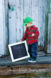 2 year old boy photo shoot, red plaid Johnson Branch Photography