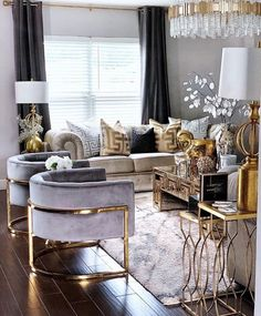 Gold Living Room, Cheap Home Decor, Luxury Living Room Design, Easy Diy Room Decor, Living Decor, Luxury Living Room, Living Room Decor Apartment, Home Decor Inspiration, Apartment Decor