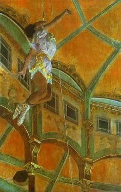 Degas, Edgar (1834-1917) - 1879. Mlle La La at the Circus Fernando (National Gallery, London).