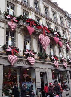 Décorations de Noël à Strasbourg, France