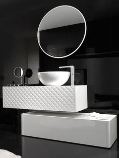 Floating Vanity with storage cabinet on the floor