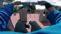 Parkour Park Černý Most (POV) - YouTube