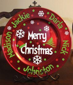 Family Christmas charger