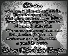 I love my Mother!