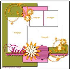 Scrapbook layout (4 photos...)