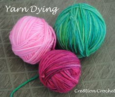 yarn dying with leftover Easter egg dye