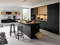 Black Kitchens - Schuller by Artisan Interiors Black Kitchen Cabinets, Kitchen Cabinet Remodel, Black Kitchens, Home Kitchens, Kitchen Black, Kitchen Room Design, Modern Kitchen Design, Kitchen Interior, Kitchen Decor