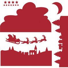 Troquel Navidad Llega Papa Nöel First Edition para Sizzix