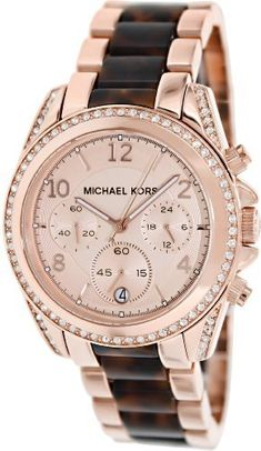 Blair Rose Dial Rose Gold-tone Ladies Watch MK5859