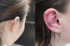有想過在耳朵上紋身嗎?風靡 Instagram 的超迷你圖案低調又耀眼!