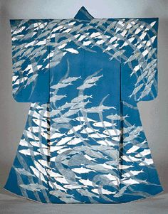 Yuzen kimono by National Living Treasure of Japan, Uzan KIMURA (1891~1977)