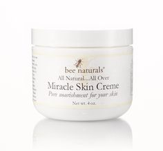 Miracle Skin Creme - Multiple Sizes Available Our pure powerhouse cream is a blend of time honored ingredients from nature that will soothe, soften, nourish and pamper your skin. It can be used for the face, lips, hands….. anywhere your skin needs a little tender loving care.