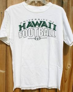 Size Medium Pre Shrunk Cotton University Of Hawaii Football Tee Fantastic Island Tee Ready To Ship Fast!We Ship Worldwide! College Goals, College Life, Tailgate Outfit, University Of Hawaii, Football Tee, Dream School, Line Store, Things To Buy, The 100