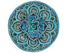 Mandala wall decoration made from ceramic outdoor wall by GVEGA