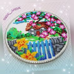 Landscape hama mini beads by  renk__ahenk