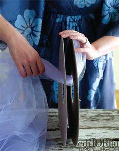 Pompones de tul para bodas