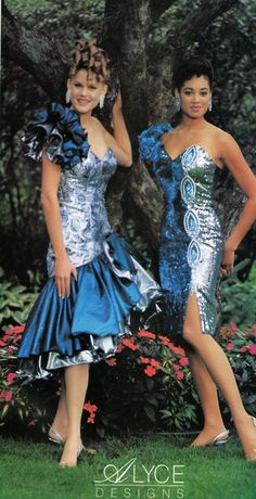 1980s •~• Alyce Designs prom dresses