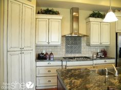 Room by Room: Decorating Secrets  love the kitchen cabinets....<3