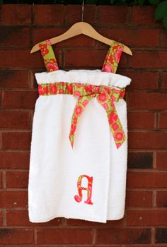 cute towel wrap!