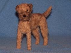 Border Terrier needle felted dog custom made to order