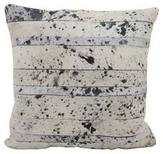 Black and white hide pillow for some extra pizazz on your sofa.