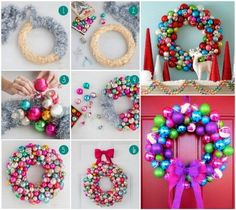 Christmas Bauble Wreath DIY Is Super Easy   The WHOot